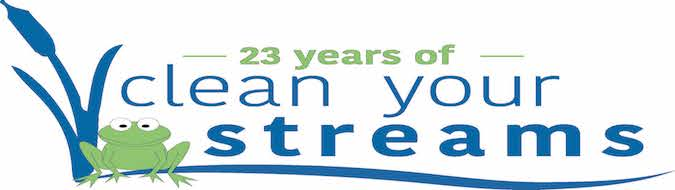 Celebrating 23 Years of Clean Streams!<p>Over the past 22 CYS cleanups, 301,681 pounds of trash have been collected by 12,134 volunteers.</p>