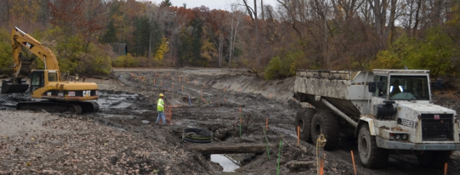 <p>Crews worked to remove over 10,000 cubic yards of sediment from Lake Sawyer </p>